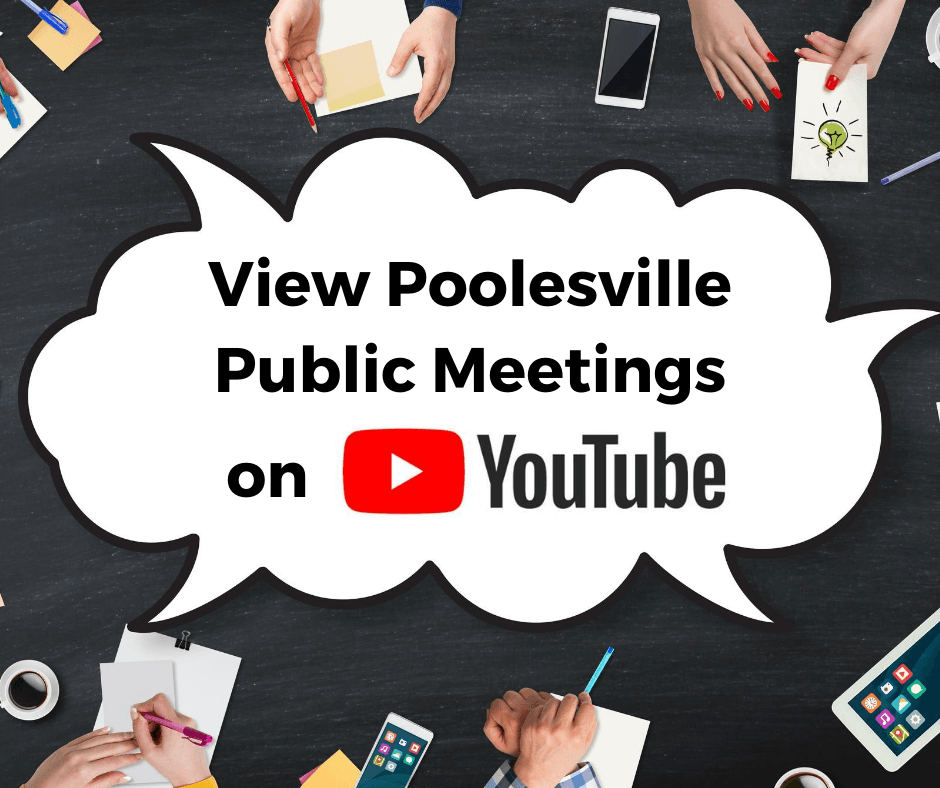 View Poolesville Public Meetings on Youtube
