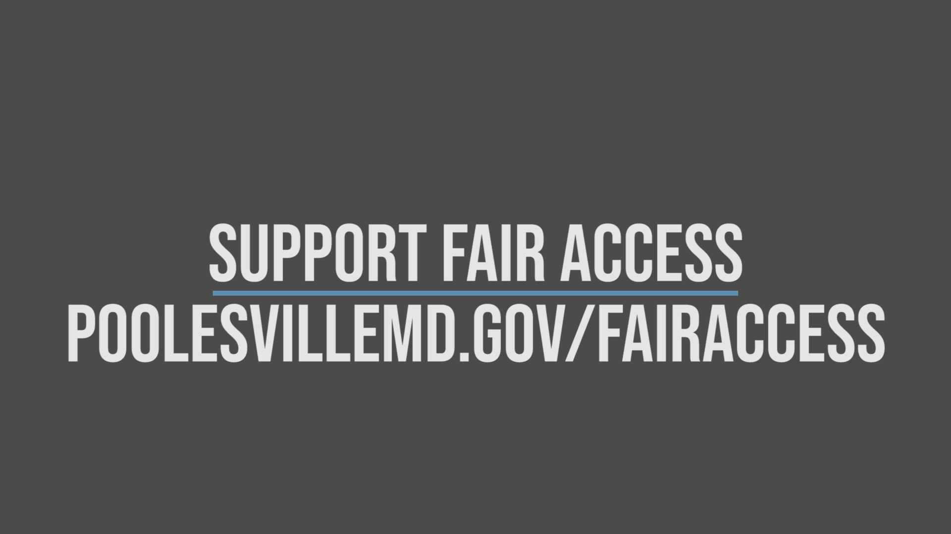 Support Fair Access